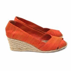 Lauren Ralph Lauren Espadrille Wedge Sandals 7.5